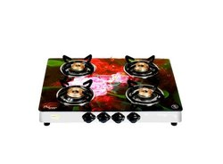 LPG Gas Stove Four Burner Glass