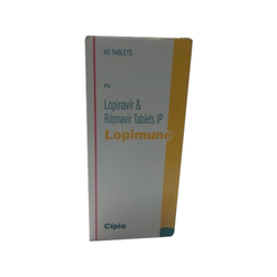 Lopinavir and Ritonavir Tablets, Packaging Type: Box