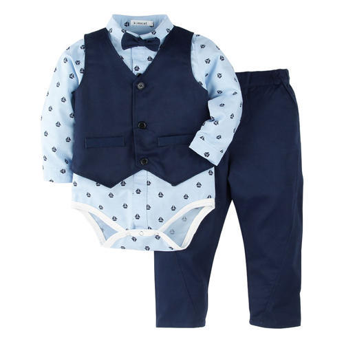 850b383f6a97 Full Sleeves Blue Onesies with Vest and Pant Set at Rs 732 piece ...