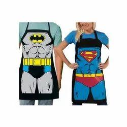 Cotton Printed Superhero Apron, For Kitchen