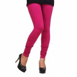 Pink Cotton Ladies Stretchable Legging