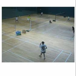 Badminton wooden court