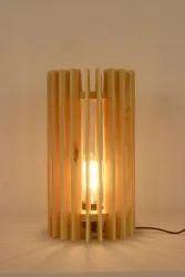 Symplify Interio Incandescent Ventus Wooden Table Lamp