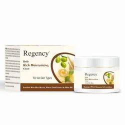Moisturizer White Regency Moisturizing Cream, For Personal, Type Of Packing: jar