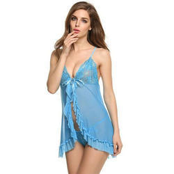 Ladies Sky Blue Short Nighty