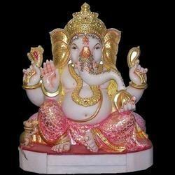 Marble Baal Ganesha Statue