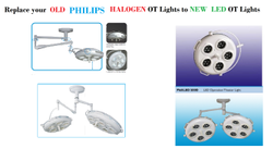Up Gradation of Halogen OT Lights