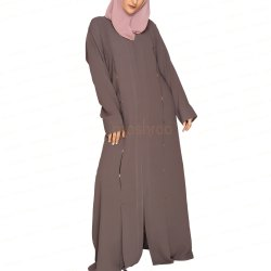 Soil Brown Dual Dafts Abaya