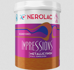 Nerolac Impressions Metallic Finish Paint, Form: Paste