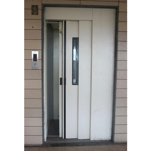 Stainless Steel Side Opening Automatic Telescopic Elevator Door