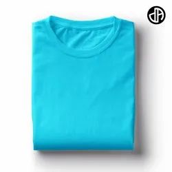 Plain Sky Blue 180 GSM Cotton T Shirt