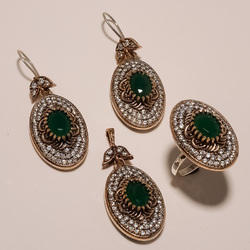 Copper Turkish Ring Pendant Set