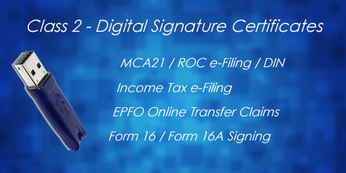 Digital Signature Certificate - Class 2 Individual, 2 years