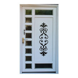 Full Pressed Galvanized Laser Cutting Designer Door