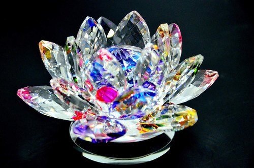 Feng Shui Chinese Crystal Lotus Charm