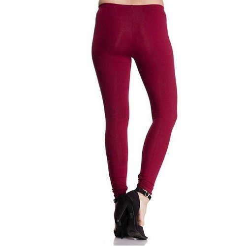fc38ca6eeb Cotton Lycra Casual Wear Maroon Ocean Women Churidar Legging, Size: Xl, Xxl