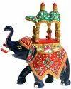 Meenakari matel Ambabari Elephant Statue