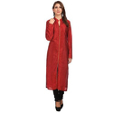 Silk Ladies Maroon Plain Kurti, Size: M & L