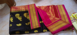Cotton Jal And Silk Full Work Sarees with Blouse, 6 m