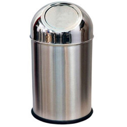 Standing Steel Flap Dustbin