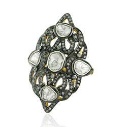 Polki Diamond and Gold Designer Ring