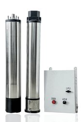 1 HP AC Semi SS Solar Submersible Pumps with Controller