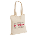 Off White Printed Cotton Tote Bags