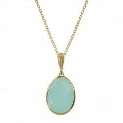 Aqua Chalcedony Hot Necklace Pendant