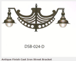 DSB-024-DAntique Finish Cast Iron Street Bracket