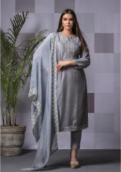 Unstitch Naariti Maslin Embroidered Suits