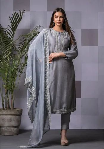 Unstitch Naariti Maslin Embroidered Suits