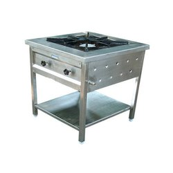 Stainless Steel Single Burner Cooking Range for Hotel