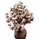 Gomti Chakra Tree With 54 To 1100 Beads Rudraksha (White And Brown)