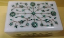 Handicrafts Marble Box Inlay Floral Art