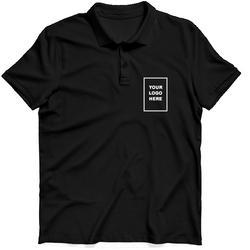 Plain Half Sleeves Black Polo T-Shirt