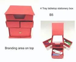 4 Tray Tabletop Stationery Box