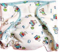 Printed Hosiery Diaper With Padded Muslin Lining