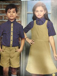 Shyamjee Polyester,Viscose Summer Kids School Uniform, Size: S,M