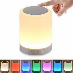 Round Touch Lamp Portable Bluetooth Speaker, Size: Medium
