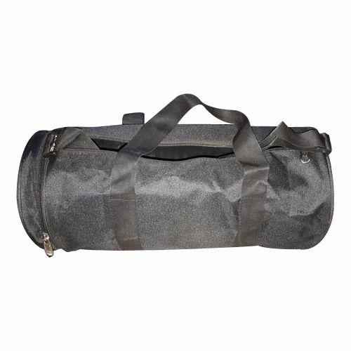 Grey Plain Duffel Gym Bag 6e28a940dec38