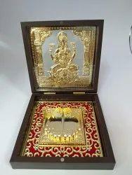 Laxmi Gold Plated Photo Frame Box