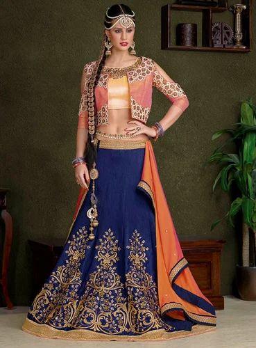 9e1a5b2bee Blue Colour Silk Heavy Designer Work Lehenga Choli at Rs 5200 /piece ...