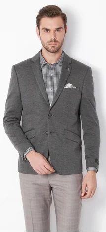 8e61b2f6c6 38 Ultra Slim Fit Van Heusen Grey Blazer