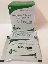L-Arginine Folic Acid & Zinc suger free