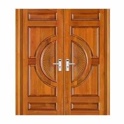 Front Teak Wooden Double Door