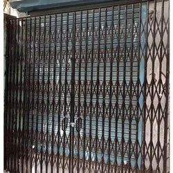 Horizantale Black Collapsible Gate, For Offices