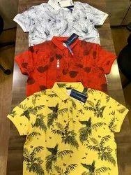 Half Sleeve Polo Printed T-Shirt