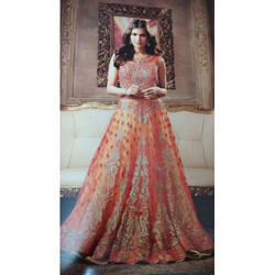 Net Semi-Stitched Fancy Anarkali Suits