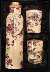 Glossy Meena Print Bottle Set