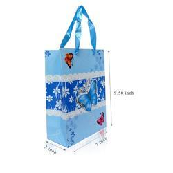 Fancy Printed Blue Pink Butterfly Carry Bag Small Size Of 6 Bag